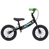 """Balansinis dviratis NPOP 12"""" (juodas/žalias)"""