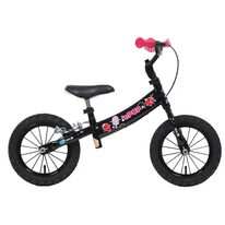 """Balansinis dviratis NPOP 12"""" (juodas/rožinis)"""