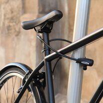 Balnelio stovas su dviračio spyna KTM 27,2/350mm (juodas)