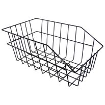 Basket on rear carrier 25x44x19 cm metal (black)