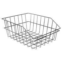 Basket on rear carrier 440x340x190mm (metal, black)