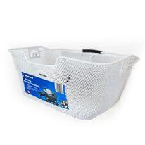 Krepšys ant bagažinės, iki 7kg, 40x30x17 cm metalinis (baltas)