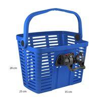 Корзина на руле FORCE с системой KlickFix  25,4-31,8мм (пластик, синий)