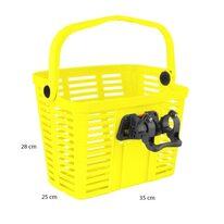 Корзина на руле FORCE с системой KlickFix  25,4-31,8мм (пластик, желтый)