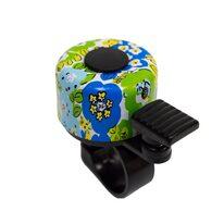 Dviračio skambutis BONIN 35mm (žalias su gėlėmis)