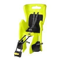 Dviračio vaikiška kėdutė BELLELLI Little Duck Relax gale ant rėmo, reguliuojama, max 22kg (fluorescencinė)