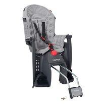 Dviračio vaikiška kėdutė HAMAX Siesta Premium gale ant rėmo, max 22kg, reguliuojama (pilka)