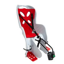 Bicycle child seat  'NFUN CURIOSO DELUXE on rear frame max 15kg (grey/red)