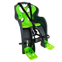 Bicycle child seat  'NFUN SIMPATICO on front carrier max 15kg (grey/green)