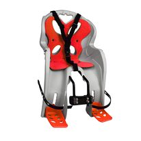 Bicycle child seat on front frame 'NFun Curioso (light grey/red)