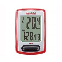 Bicycle computer Cat Eye CC-VT230W 8 functions wireless (red)