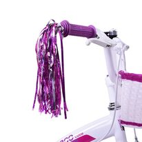 Bicycle handlebar tassels (pair, pink)