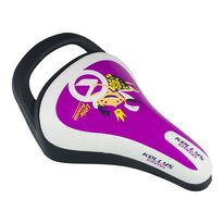 Bicycle saddle for children KLS Emma, with a hadle (purple)