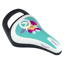 Bicycle saddle for children KLS Emma, with a hadle (turquoise)
