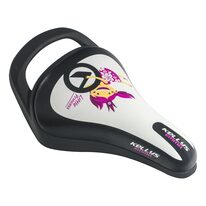 Bicycle saddle for children KLS Emma, with a hadle (white)