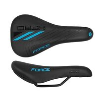 Bicycle saddle FORCE Hero Junior 240x130mm (black/blue)