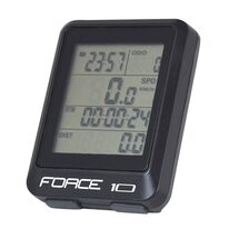 Bike computer FORCE 10 functions, wired (black)