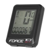 Bike computer FORCE WLS 10 functions, wireless (black)