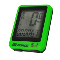 Bike computer FORCE WLS 10 functions, wireless (green)