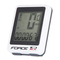 Bike computer FORCE WLS 10 functions, wireless (white)