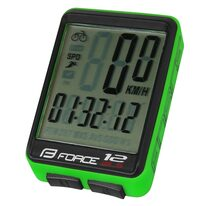Bike computer FORCE WLS 12 functions, wireless (black/green)