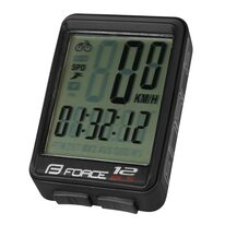 Bike computer FORCE WLS 12 functions, wireless (black)