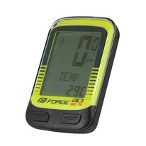 Bike computer FORCE WLS 20 functions, wireless (black/fluorescent)