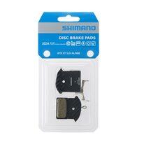 Diskinių stabdžių kaladėlės Shimano J02A Resin su aušintuvu (XTR, Deore XT, SLX, Alfine)