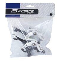 Stabdžiai plentiniui dviračiui FORCE 39-49mm priekinis + galinis (aliuminiai, juoda/balta)