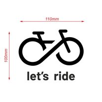 Car sticker Let's Ride 100x110mm (black)