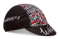 Dviratininko kepurėlė WILIER su snapeliu (juoda/raudona) (universalus dydis)