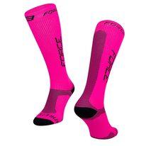 Kojinės FORCE Athletic Pro kompresinės (rožinė/juoda) dydis 36-41 (S-M)