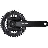 Priekinis žvaigždžių blokas Shimano Altus FC-MT101-B2 36x22T 175 mm (juodas)