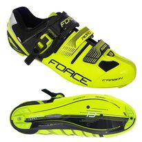 Cycling shoes FORCE Road Carbon (black/fluorescent) 45