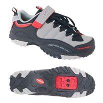 Dviratininko batai FORCE Tourist (juoda/pilka/raudona)