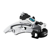 Derailleur Shimano Tourney TX800 34.9mm 48T from above 8/7 gears.