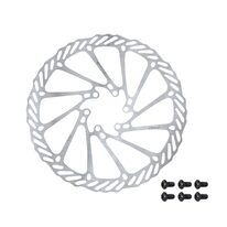 Disc brake rotor FORCE-2 180mm 6 holes (silver)
