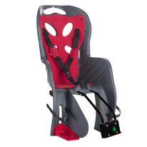Dviračio kėdutė 'Nfun Curioso Deluxe gale ant dviračio rėmo max 22kg (pilka/raudona)