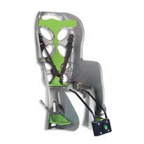 Dviračio kėdutė 'Nfun Curioso gale ant dviračio rėmo max 22kg (pilka/žalia)