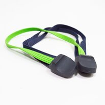Elastic triple strap for rear carrier (blue/green)