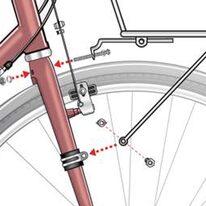 Adapteris ant dviračio rėmo varžtui prisukti 16mm