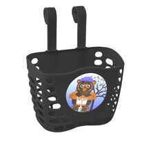 Front basket FORCE (plastic, black)