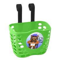 Front basket FORCE (plastic, green)