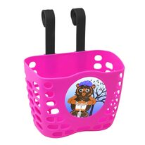 Front basket FORCE (plastic, pink)