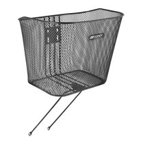 Front basket FORCE with holder and stays (black)