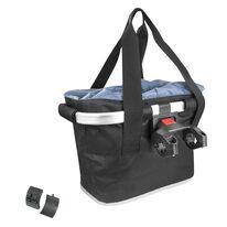 Front basket FORCE with Klick Fix system 22,2-31,8mm (plastic/textile, black)