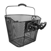 Front basket FORCE with Klick Fix system 25,4mm (metal, black)