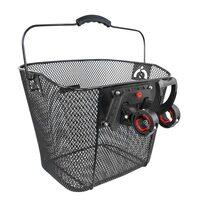 Front basket FORCE with Klick system 25,4-31,8mm (metal, black)