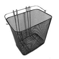 Front basket mounted on handlebars 33x24x32,5cm (metal, black)