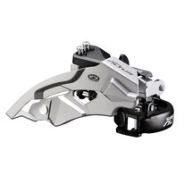Front derailleur Shimano Altus M370 28.6mm 48T from above 9 gears.